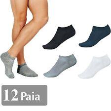 12 Pares Calcetines Hombre Mujer Fantasmas a Tobillo de Algodón Talla Única