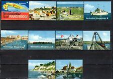 MATCHBOX LABELS-GERMANY. Wangerooge Island, set of 10 souvenir label, factory 7