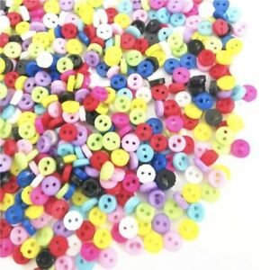 300 3mm ROUND TINY SMALL RESIN DOLL BUTTONS MIXED COLOUR CRAFT SCRAPBOOK SEWING
