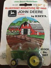 Ertl 1/64 Die Cast Farm Toy John Deere Tractor Blueprint Miniature of 1960