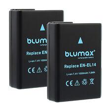 2x batería para Nikon en-el14 (a) | 65206 | d3300 d3400 d5300 d5500 d5600 p7700 p7800