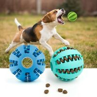Rubber Chew Ball Durable Dog Toy Chewing Puppy Teething Pet Treat Food Clean Gum