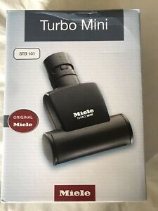 Genuine Miele Mini Turbo Head Brush - Black (STB101), Boxed, With Instructions