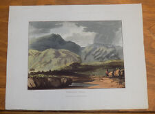 1821 Print, Aquatint Tour of English Lakes///YEWDALE CRAGS