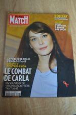 PARIS MATCH N° 3107 2008 / CARLA BRUNI VIRGINIO TERRORISME BOMBAY PSY4DE LA RIME