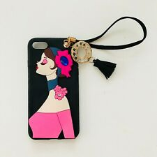 Cute Lady Iphone 7 8 case with keychain