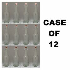 BEER BOTTLES 12 EZ CAP CLEAR GLASS SWING-TOP SODA 32oz FLIP TOP EZCAP GROLSCH