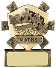 Maths School Mini Shield Trophy,80mm,Free Engraving (RM643) good