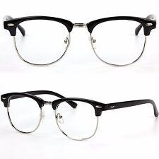 Half Frame Clubmaster Style No Lens Fashion Glasses Prescription Frames