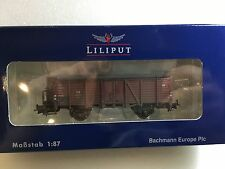 Liliput L235032 Open Goods Wagon With Brakemans Cab DB Epoche III H0 NewT48 Post