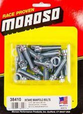 "Moroso Intake Manifold Bolt Kit 3 8""x 1 1/4"" Set of 16 for Chevrolet BBC 38410"