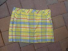 COLUMBIA TITANIUM Women's  Plaid Tennis/Golf Skort with Matching Shorts Siz10