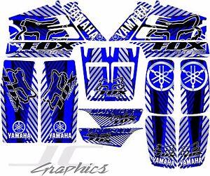 Yamaha banshee full graphics kit blue...THICK AND HIGH GLOSS