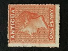 Antigua Q. Victoria 1867 1d vermilion unused/no gum SG 7b. (Cat £250 as mint)