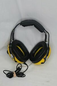 Track Scan Yellow Headphones Great Used Condition Tested and Working