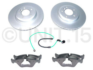 BMW E46 330D 330i (00-06) Front Brake Discs (Coated) + Brake Pads + Sensors