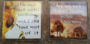 2 X COUNTRY STUDIOS FRIDGE MAGNETS