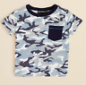 Bloomie's Infant Boys' Camouflage Tee,Blue/Black/White, 24 Months