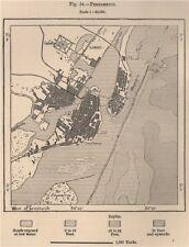 Pernambuco Brésil 1885 old antique vintage carte plan graphique