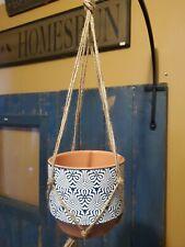 Flower Pot/Plant Ceramic Porcelain Indoor Outdoor Garden Planter - Blue / White