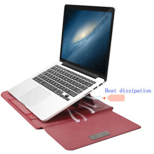 Laptop Leather Sleeve Case For Macbook Air Pro 11 12 13 15 Inch Notebook Bag