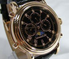 "Calvaneo 1583 - Model ""Estemia Diamond Rosé Gold"" Calendar Moon Phase Mens Watch"