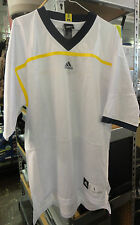 Large Michigan Wolverines Blank Adidas White Football Jersey for making Custom