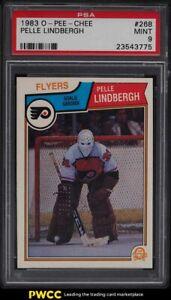 1983 O-Pee-Chee Hockey Pelle Lindbergh ROOKIE RC #268 PSA 9 MINT
