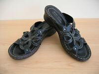 Josef Seibel Sandals Size EU 42 UK 7.5 Black Womans