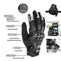 Hard Knuckle Leather All Weather Motorbike Motorcycle Gloves Carbon Fiber Gloves
