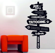 Star Wars Universe Sign Post Last Jedi Imperial Wall Art Stickers Decals Vinyl