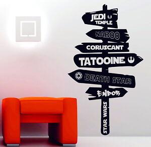 Star Wars Universe Sign Post Last Jedi Imperial Wall Art Stickers Decals Vinyl