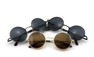 Retro Classic Shades Round Vintage Hippie UV400 Sunglasses 90s John Lennon Style