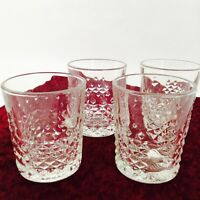 Libbey Clear Pressed Glass Tumblers or Juice Glasses Tumblers Barware Set of 4