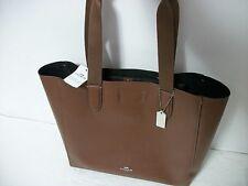 NEW Coach F58660 Derby Pebble Leather Shoulder Tote Handbag BROWN/BLACK $295.
