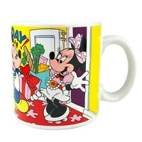 Disney Minnie Mouse Happy Birthday Mug Coffee Cup Mickey Goofy Donald Applause