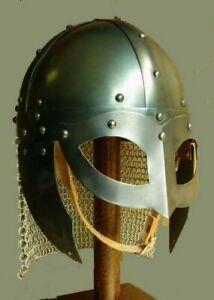 Battle Ready Viking Vendel Helm Spectacle Helmet Chainmail