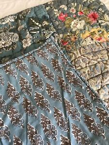 1 Pottery Barn Neena Patchwork Quilted Euro EUC
