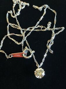 Platinum .40Ct Champagne Diamond Solitaire Necklace