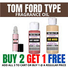 TOM FORD TYPE Attar Fragrance Perfumed Body Oil Oud Wood Tobacco Oud 10,30,60 ML