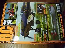 µ?§ Revue RC Pilot n°150 Volet de Courbure Urendo Demarreur sans fil Spitfire MK