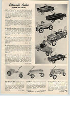 1959 PAPER AD Garton Western Flyer Kidillac Pedal Car Hot Rod US Air Force Jeep