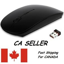 USB Ergonomic Wireless Optical Mouse 2.4Ghz Sensor Slim Mice Portable For Laptop