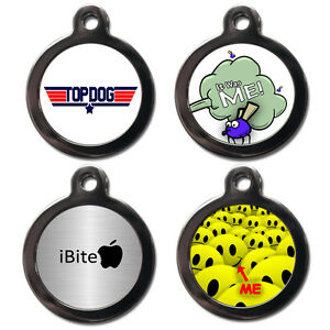 Personalised Pet ID Tags - Dog Cat Tags - Name Discs For Collars - Engraved FREE