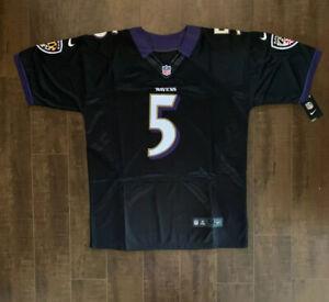 Joe Flacco Baltimore Ravens Mens On Field Jersey Size 50 Free Ship (B3)