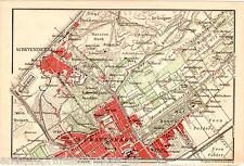 Antique map The Hague / landkaart Den Haag Scheveningen 1905 carte karte