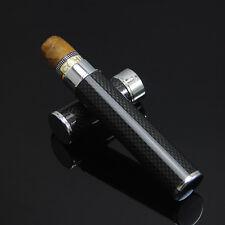 COHIBA Black Carbon Fiber Cigar Tube Holder Travel Case