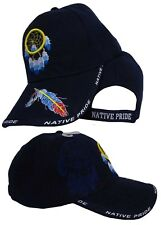 ebc9cd17151 Dream Catcher Feather Indian Native Pride Blue Embroidered Ball Cap Hat