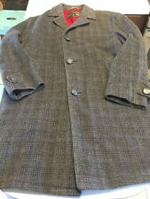 vtg 60s Loden coat overcoat Jacket Germany Lodenfrey Wool L/XL Gray