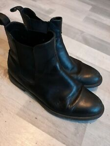 Womens VAGABOND Black Leather Chelsea Ankle Boot Uk Size 6 39